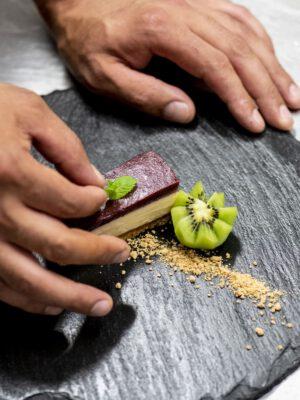 Dessert im Speiselokal KASPAR